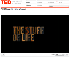 TEDGlobal 2011 Test Stream